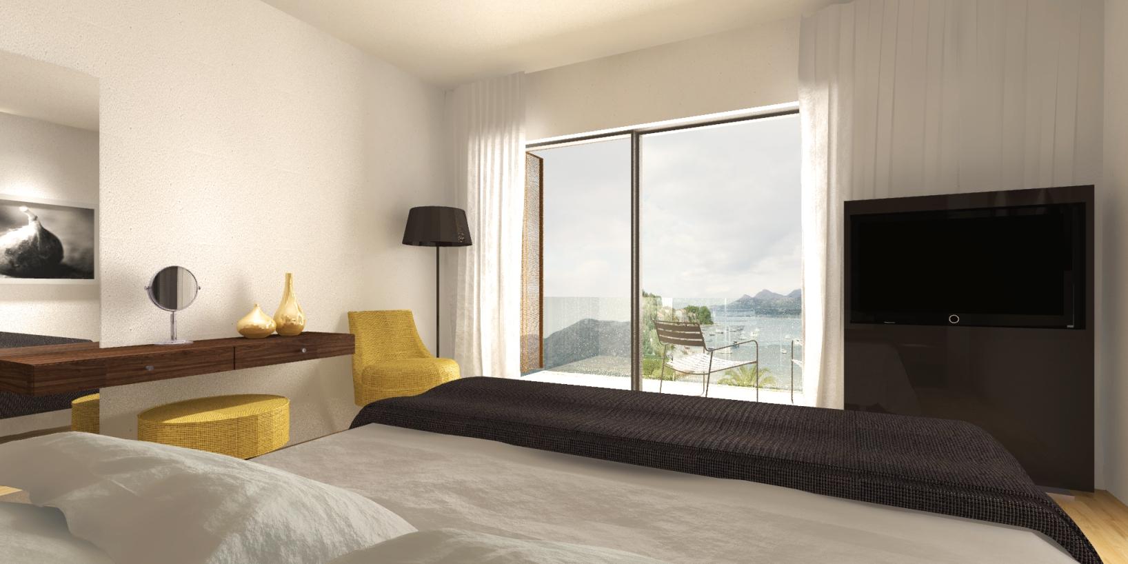 An Island Hotel Room Interior
